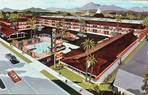 Artist's rendering of the Waikiki Motel in Anaheim