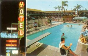 Postcard from Waikiki Motel in Anaheim