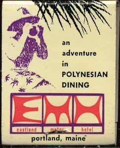 Matchbook from Hawaiian Hut in Portland