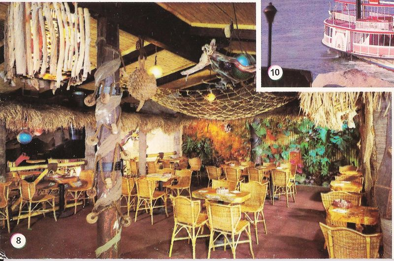 Tonga Room Shown On A Postcard From The Reef In Long Beach Ca