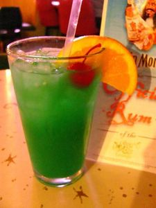 The Blue Hawaiian at Sip-N-Dip Tiki Lounge in Great Falls