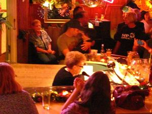 Piano Pat entertaining the varied crowd at Sip-N-Dip Tiki Lounge in Great Falls