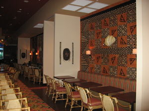 Dining area at Trader Vic's in Destin