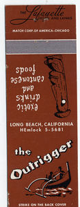 Matchbook from The Outrigger in Long Beach