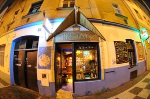 View of front from street at Tiki Taky in Praha