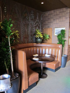 A booth at Trader Vic's Lounge in Beverly Hills