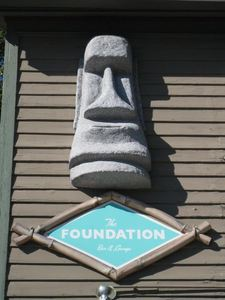 Moai on the outside of Foundation in Milwaukee