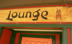 Lounge sign at Ming's Restaurant & Lounge in Yreka