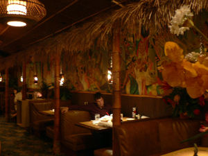 Booths and mural at Damon's in Glendale