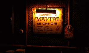 Sign for Mai Tais and Chi Chis at Damon's in Glendale