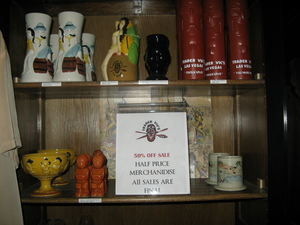 Merchandise display at Trader Vic's in Las Vegas