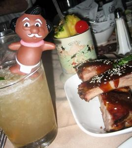 Food and drinks at Trader Vic's in Las Vegas