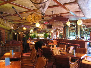 The lounge at Trader Vic's in Amman