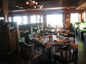 Main dining room at The Beachcomber in Malibu