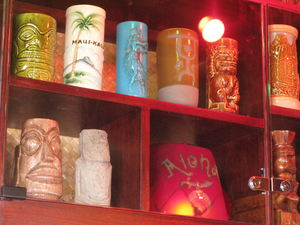 Mug collection at The Beachcomber in Malibu