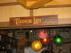 Tonga Lei Room sign at The Beachcomber in Malibu