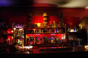 The bar at Tiki Lounge and Bar in Richmond