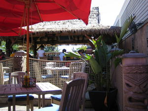 Ground-floor tiki bar at Shipwreck Tavern in Bayville
