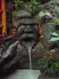Fountain in the Hidden Village at Kona in Huntington Beach