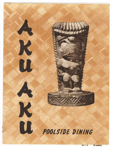 Menu from Aku Aku in Cadillac