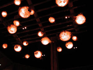 Pufferfish lights at Luau in Beverly Hills