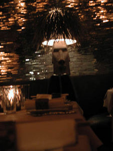 Moai lamp at Luau in Beverly Hills