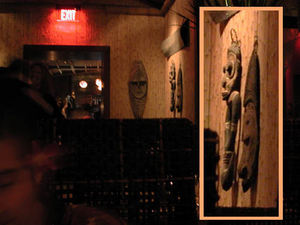 Oceanic art at Luau in Beverly Hills