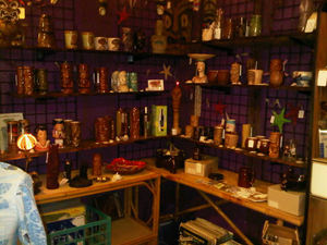 Tiki mugs for sale at Charleston Antique Mall in Las Vegas