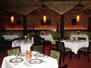 Dining room at Trader Vic's in Chicago
