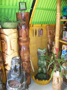 Tikis at House of Tiki in C