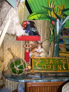 Decor at House of Tiki in Costa Mesa