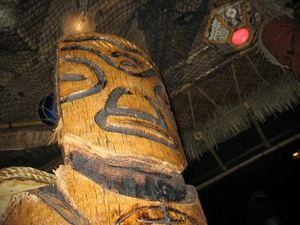 Carving at Frankie's Tiki Room in Las Vegas