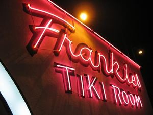 Neon sign at Frankie's Tiki Room in Las Vegas