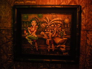 Art at Frankie's Tiki Room in Las Vegas