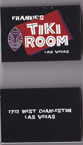 Matchboxes from Frankie's Tiki Room in Las Vegas
