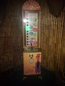 The Vice Tester, featuring artwork by Shag, at Frankie's Tiki Room in Las Vegas
