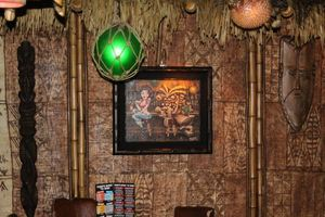 Original painting by Big Toe at Frankie's Tiki Room in Las Vegas