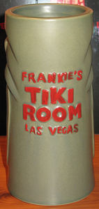 Thurston Howl souvenir mug from Frankie's Tiki Room in Las Vegas