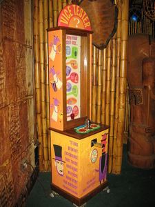 "Shag decorated ""Vice Tester"" at Frankie's Tiki Room in Las Vegas"