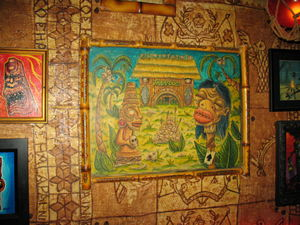 Artwork at Frankie's Tiki Room in Las Vegas