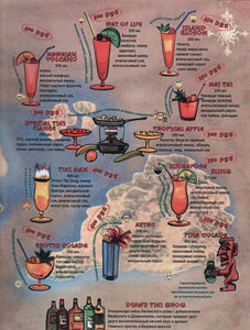 Menu from Tiki Bar in Moscow