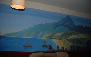 Mural at Tiki Bar in Moscow
