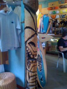 Tall Bosko tiki at Aqua Surf Shop in San Francisco