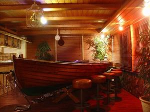 The boat at Tiki Bar Sargans in Switzerland