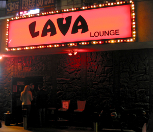 The entrance to the Lava Lounge in Hollywood