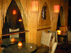 Seating near the back of the Lava Lounge in Hollywood