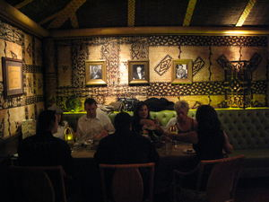 Dining room at Trader Vic's in Los Angeles