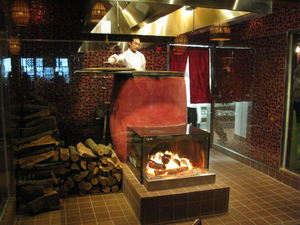 Chinese oven at Trader Vic's in Los Angeles