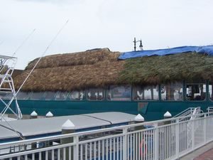 Rethatching of The Original Tiki Bar in Fort Pierce