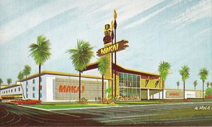 Artist's rendering of Makai Beach Lodge in Ormond Beach